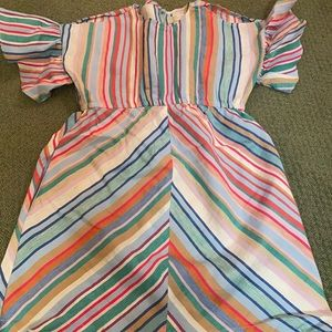 KIDS Zara linen Stripped dress size 9